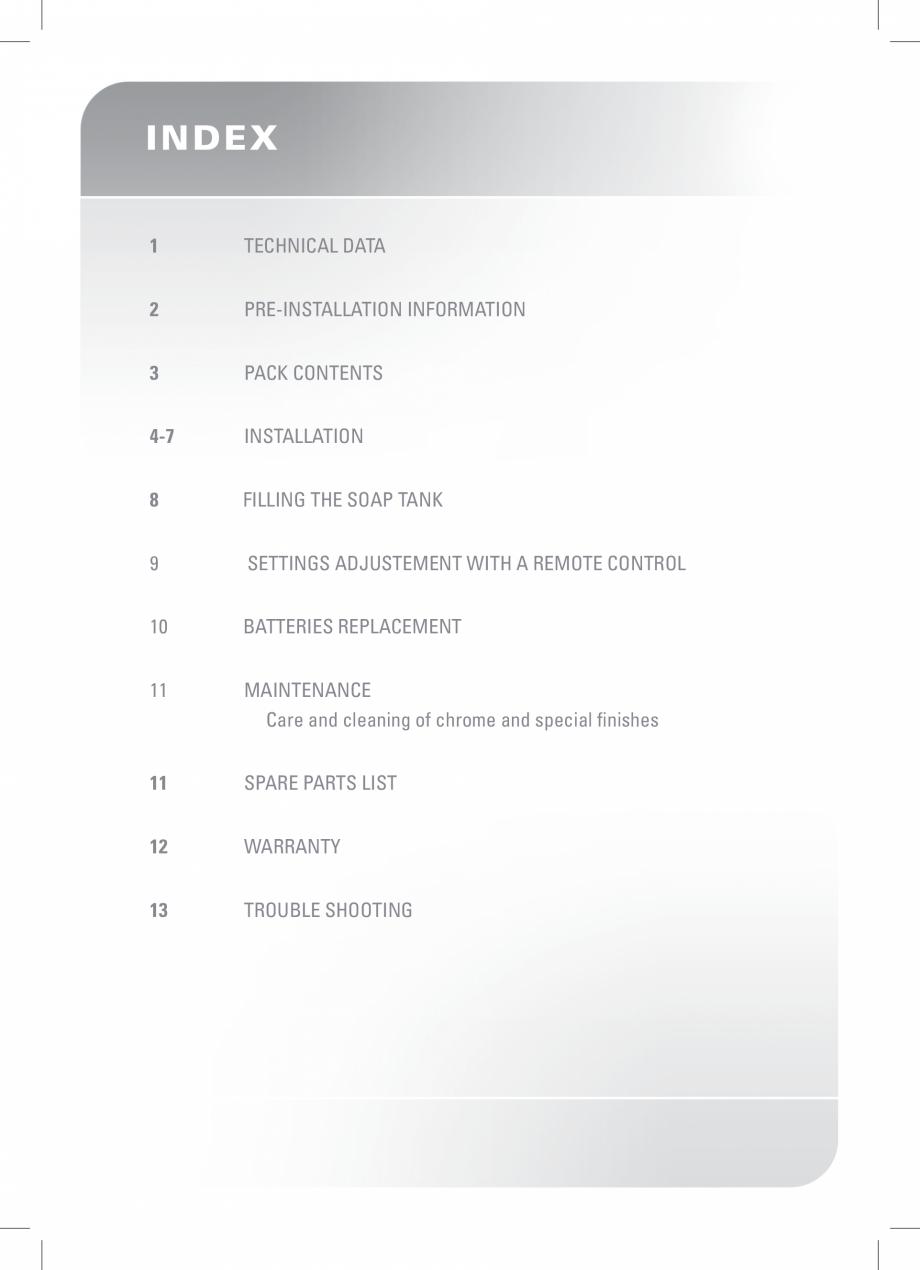 Pagina 2 - Dozator sapun  STERN SWAN Instructiuni montaj, utilizare Engleza If any parts are missing...