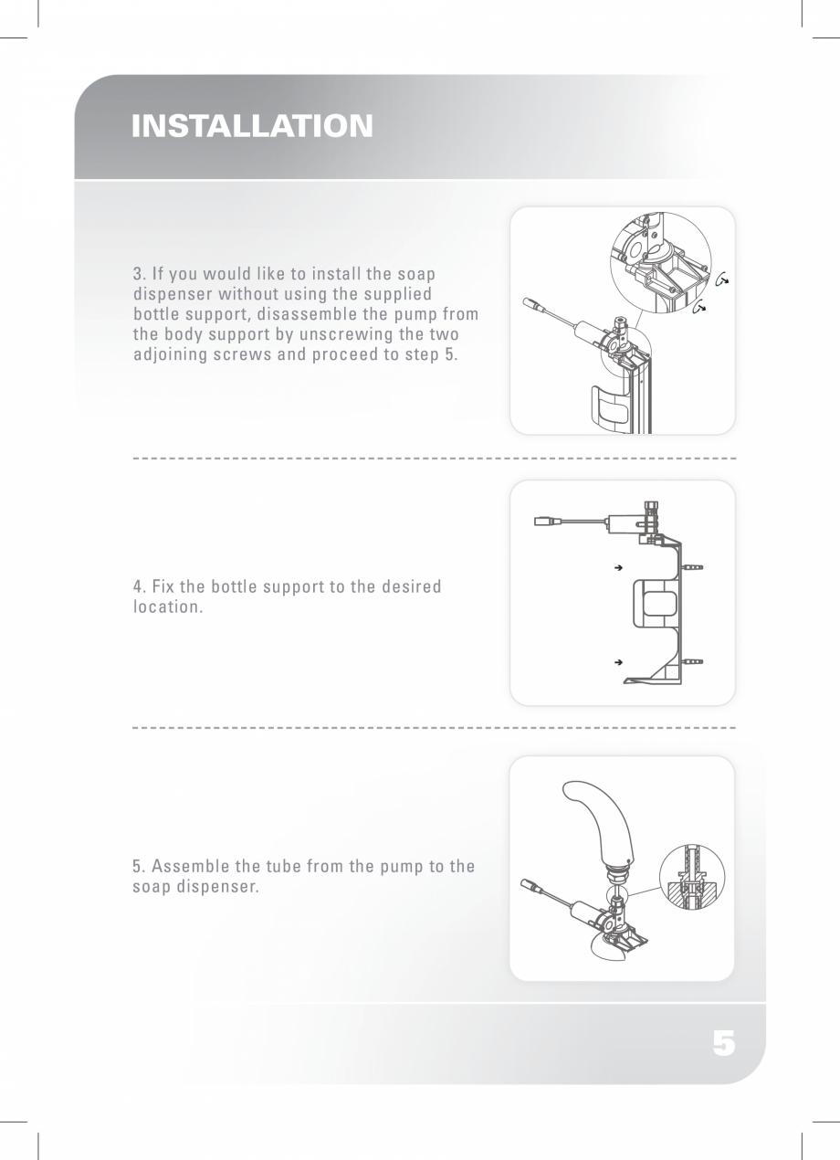 Pagina 7 - Dozator sapun  STERN SWAN Instructiuni montaj, utilizare Engleza eplaced within two weeks...