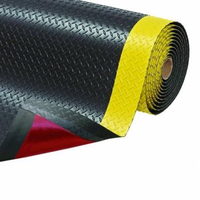Covor ergonomic CUSHION TRAX - negru cu galben CUSHION TRAX Covor ergonomic
