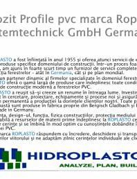 Profile pvc marca Roplasto Systemtechnick GmbH Germania
