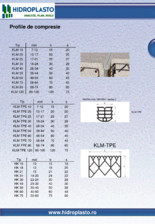 Profile de compresie HIDROPLASTO