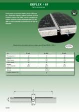 Profil de dilatatie impermeabil pentru acoperis HIDROPLASTO