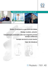 Sistem de profile pentru usi HIDROPLASTO