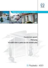 Sistem pentru usi glisante cu ridicare HIDROPLASTO