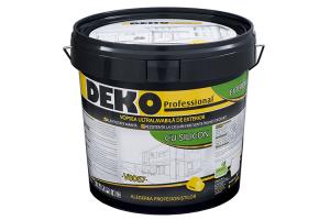 Vopsea lavabila pentru exterior DEKO Professional va pune la dispozitie o gama variata de vopsele de exterior, rezistente la factorii de mediu, radiatii UV, difertente mari de temperatura.