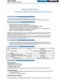 Tencuiala decorativa siliconica canelata - R15S
