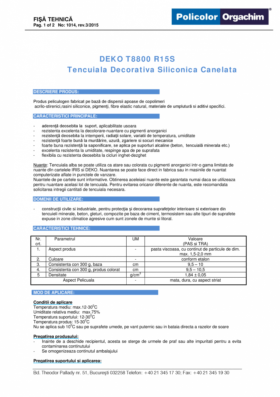 Tencuiala Decorativa Buna.Tencuiala Decorativa Siliconica Canelata R15s Deko Professional T