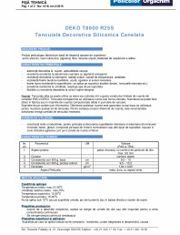 Tencuiala decorativa siliconica canelata - R25S