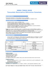 Tencuiala decorativa siliconica canelata - R25S DEKO Professional