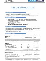 Vopsea de marcare rutiera VMR City Plus