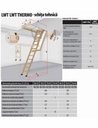 Scara din lemn pentru acces pod
