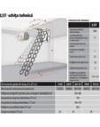 Scara metalica tip pantograf pentru acces in pod FAKRO - LST