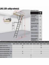 Scara metalica pentru acces pod