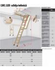 Scara din lemn pentru acces pod FAKRO - LWL LUX