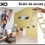 Scara pentru pod mansarda din lemn si metal rabatabila cu usa pod producator - Fakro -