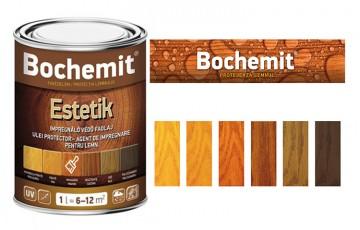 Lazura pe baza de ulei destinata impregnarii lemnului de interior si de exterior Lazura BOCHEMIT pe baza de ulei destinata impregnarii lemnului de interior si de exterior, pentru protectia impotriva radiatiilor UV si a patrunderii apei.