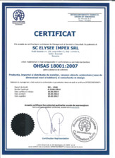 Certificat ISO 18001 Chairry