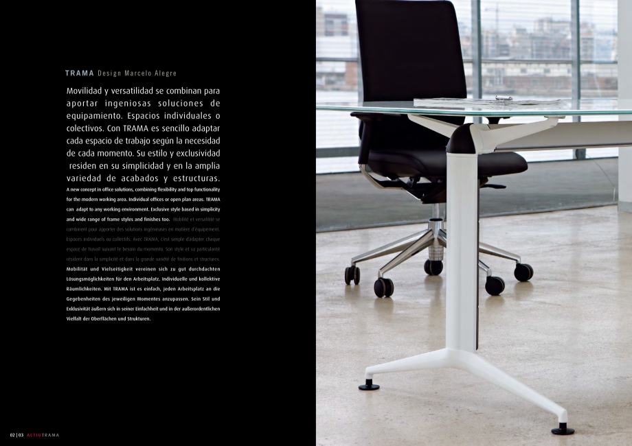 Pagina 2 - Masa pentru sali de conferinta si training Chairry MO 012 Catalog, brosura Franceza ty...