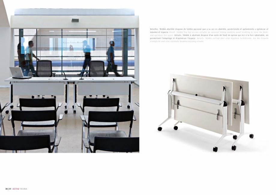 Pagina 21 - Masa pentru sali de conferinta si training Chairry MO 012 Catalog, brosura Franceza cm  ...