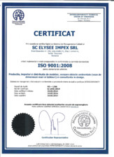 Certificat ISO 9001 Chairry
