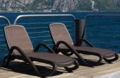 Sezlonguri pentru terase, plaje si piscine  TREND FURNITURE va ofera sezlonguri cu cadru metalic acoperite fie cu textilina, fie cu impletitura de ratan sintetic si perne, se preteaza pentru spatii elegante, precum piscinele hotelurilor cu design clasic sau contemporan.