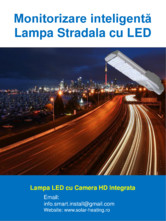 Monitorizare inteligenta - Lampi stradale cu LED SMART INSTAL