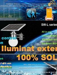 Iluminat exterior 100% SOLAR cu control prin conexiune Bluetooth