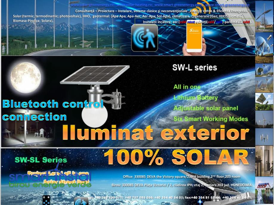 Pagina 1 - Iluminat exterior 100% SOLAR cu control prin conexiune Bluetooth SMART INSTAL Catalog,...
