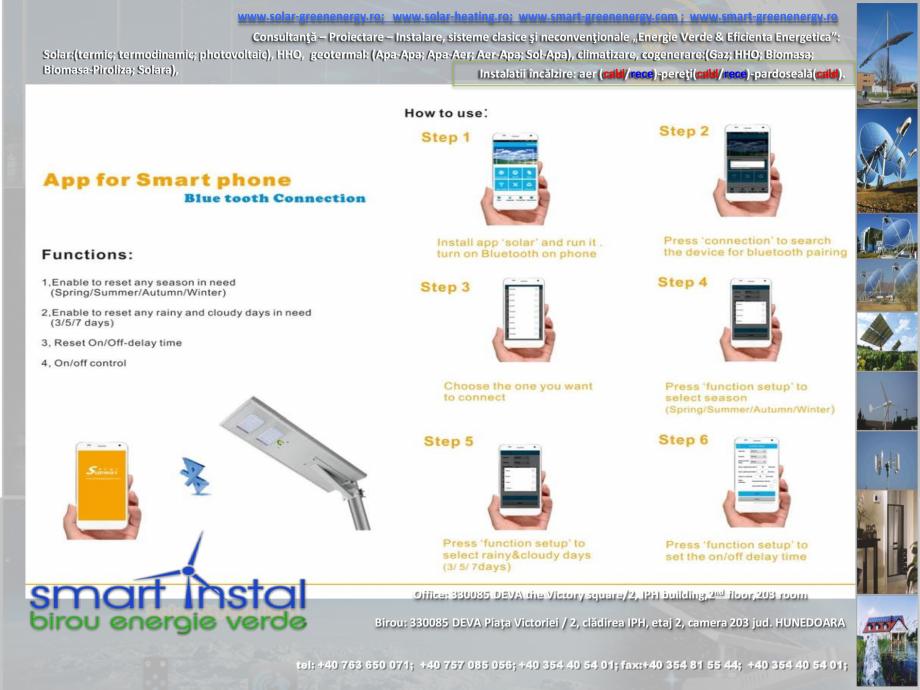 Pagina 2 - Iluminat exterior 100% SOLAR cu control prin conexiune Bluetooth SMART INSTAL Catalog,...
