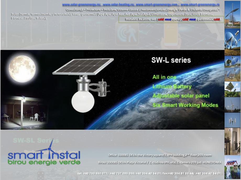 Pagina 3 - Iluminat exterior 100% SOLAR cu control prin conexiune Bluetooth SMART INSTAL Catalog,...