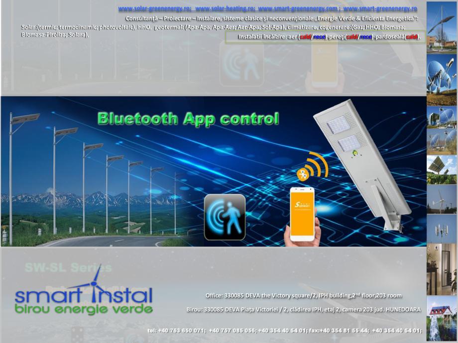 Pagina 5 - Iluminat exterior 100% SOLAR cu control prin conexiune Bluetooth SMART INSTAL Catalog,...