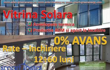 Vitrina Solara - Anvelopare termica, producere ACM si aport la incalzire SMART INSTAL