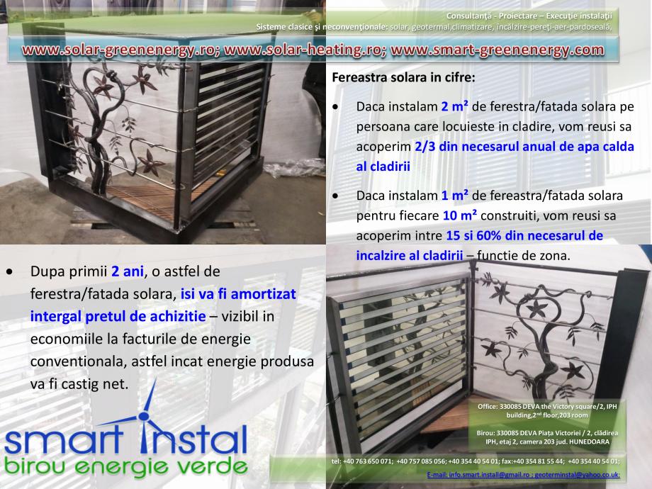 Catalog, brosura Vitrina Solara - Anvelopare termica, producere ACM si aport la incalzire SMART INSTAL Panouri solare pentru apa calda  SMART INSTAL  - Pagina 19