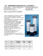 Fisa tehnica filtru multicartus - 5 cartuse HIDROMOTOR