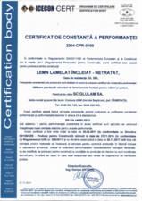 Certificare produs - GL28H GLULAM