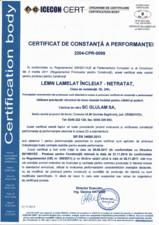 Certificare produs - GL24H GLULAM