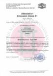 Certificare Tego - Attestation Emission Class E1 EUROPEAN PRODUCER