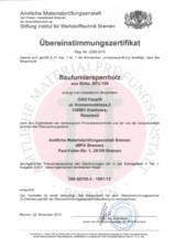 Certificare-Tego-25_ pdf  BFU100 EUROPEAN PRODUCER