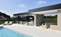 Sistem de ferestre minimale din aluminiu, pentru locuinte moderne Sistemele de ferestre minimale de la KELLER reprezinta un sistem inovator de glisare, realmente fara cadru cu sistem etans din profile de aluminiu.