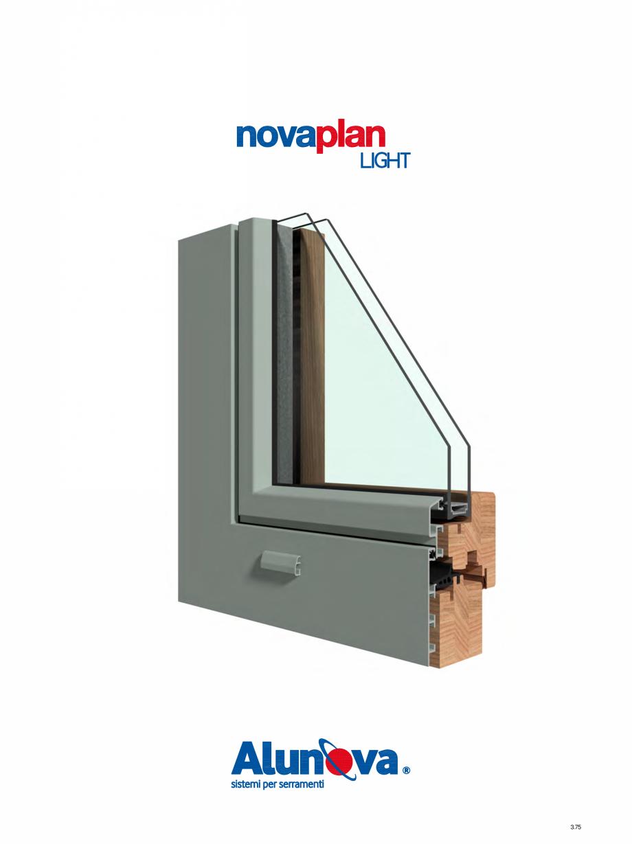 Pagina 1 - Ferestre din lemn placate cu aluminiu Alunova NovaPlan Light Fisa tehnica 3.75  3.76  3...