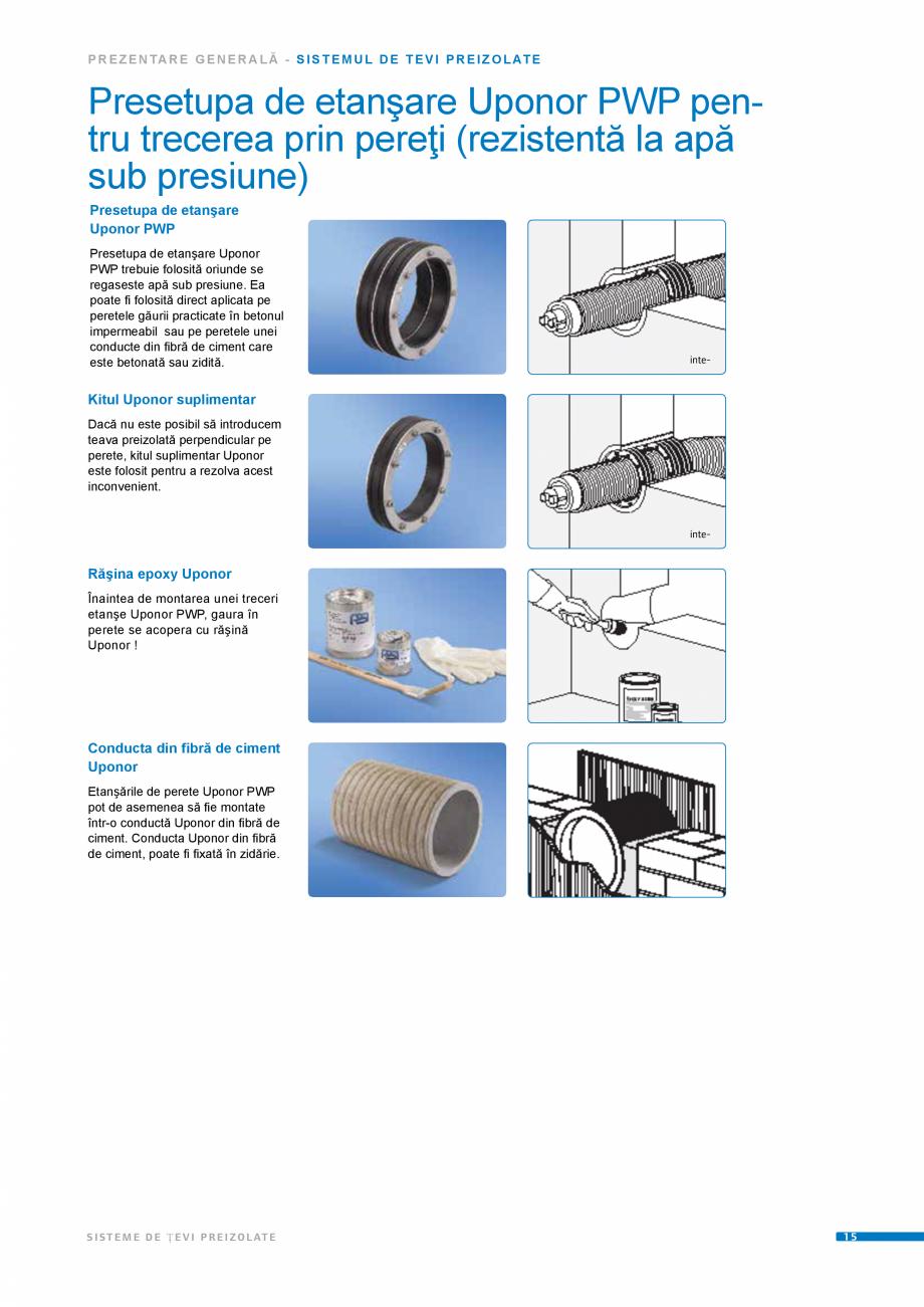 Pagina 15 - Sisteme de tevi preizolate UPONOR Fisa tehnica Romana ere Uponor  1  Racord Wipex Uponor...