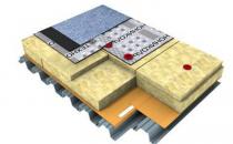 Vata minerala pentru acoperisuri tip terasa Placile din vata bazaltica TECHNONICOL sunt utilizate pentru izolarea termica, fonica si protectia la foc a acoperisurilor tip terasa.