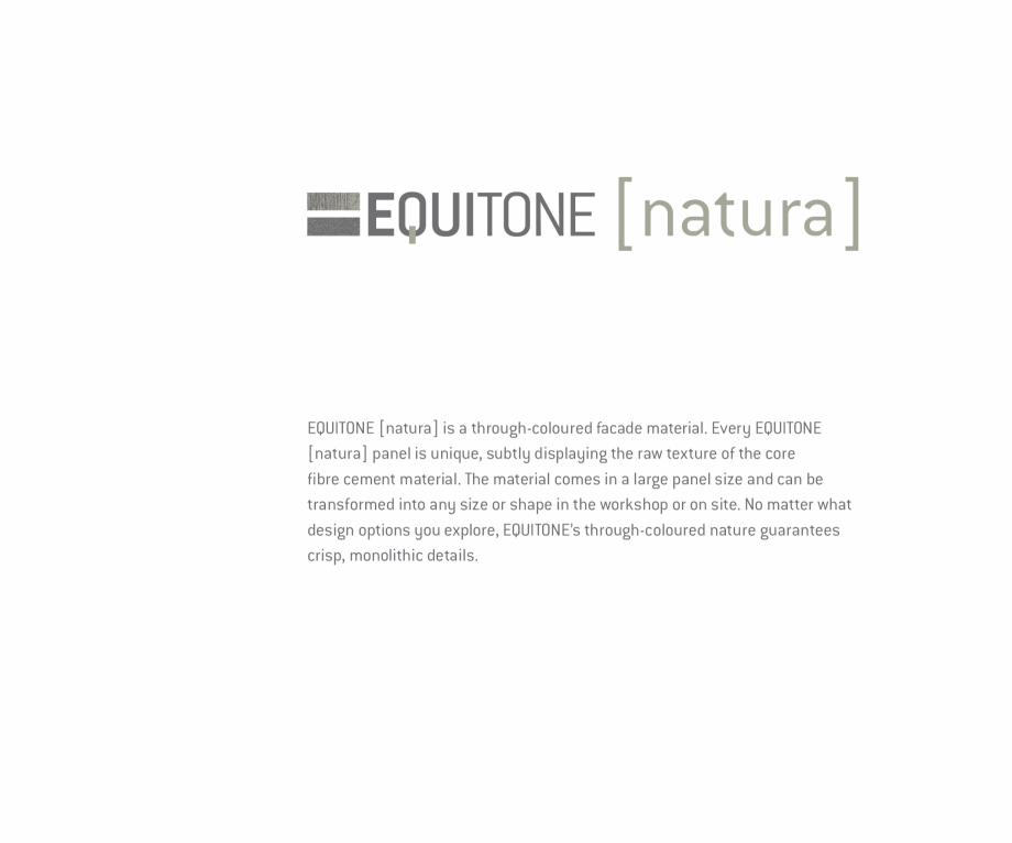 Pagina 9 - Fatade ventilate din fibrociment - Ghid de texturi si culori EQUITONE [natura] [natura], ...