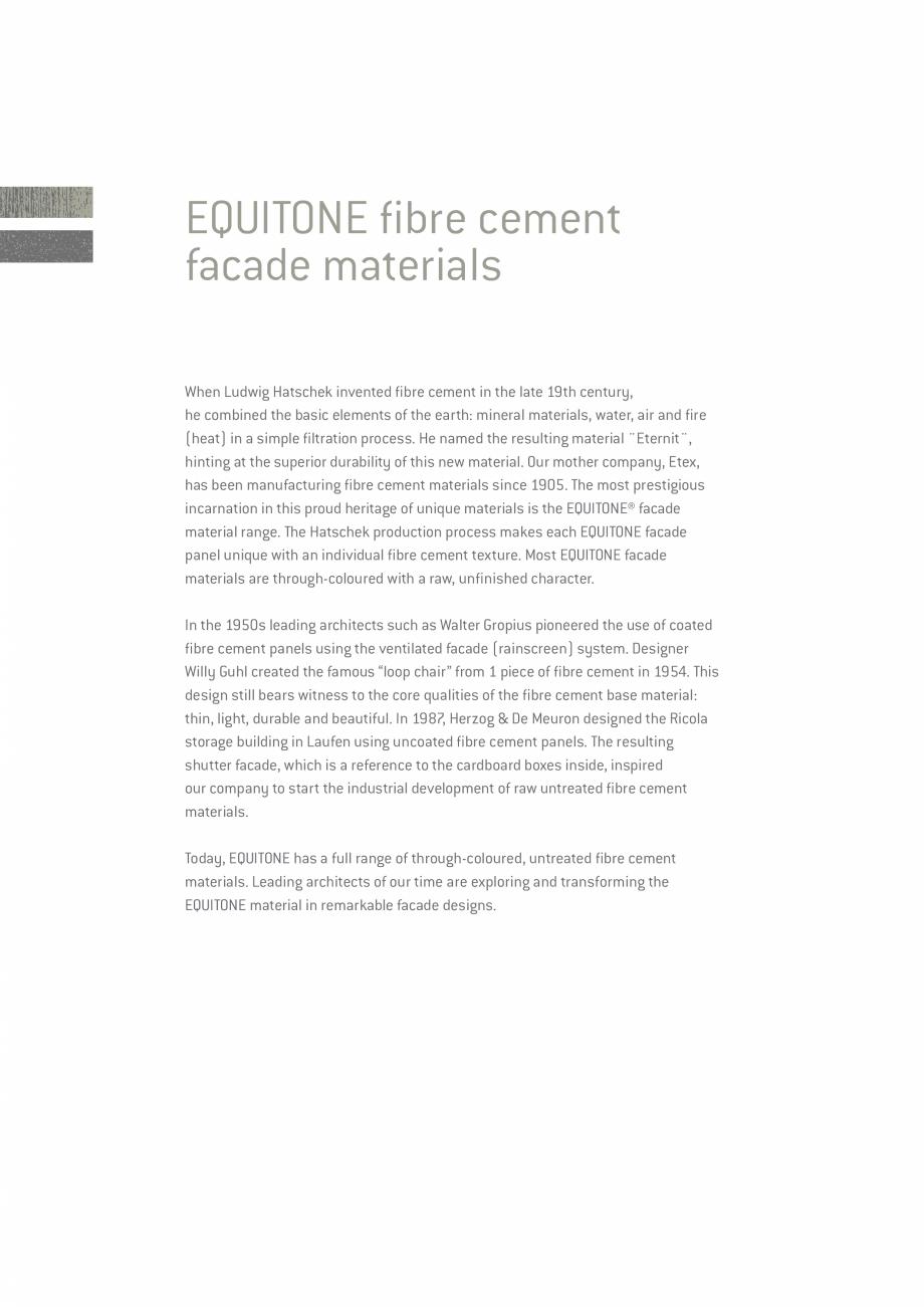 Pagina 2 - EQUITONE fatade ventilate din fibrociment - Prezentare materiale EQUITONE [natura]...