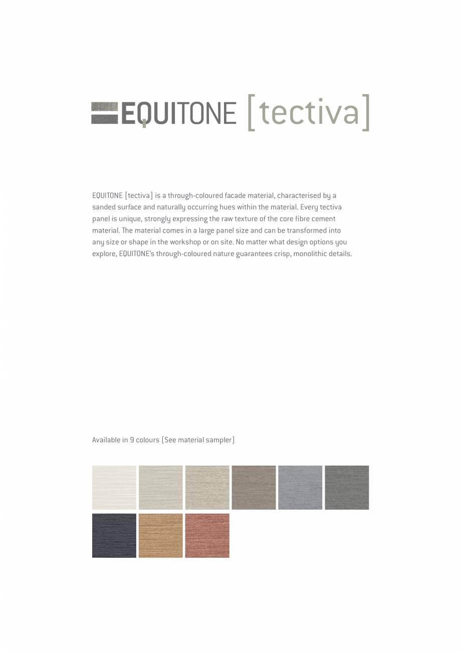 Pagina 12 - EQUITONE fatade ventilate din fibrociment - Prezentare materiale EQUITONE [natura]...
