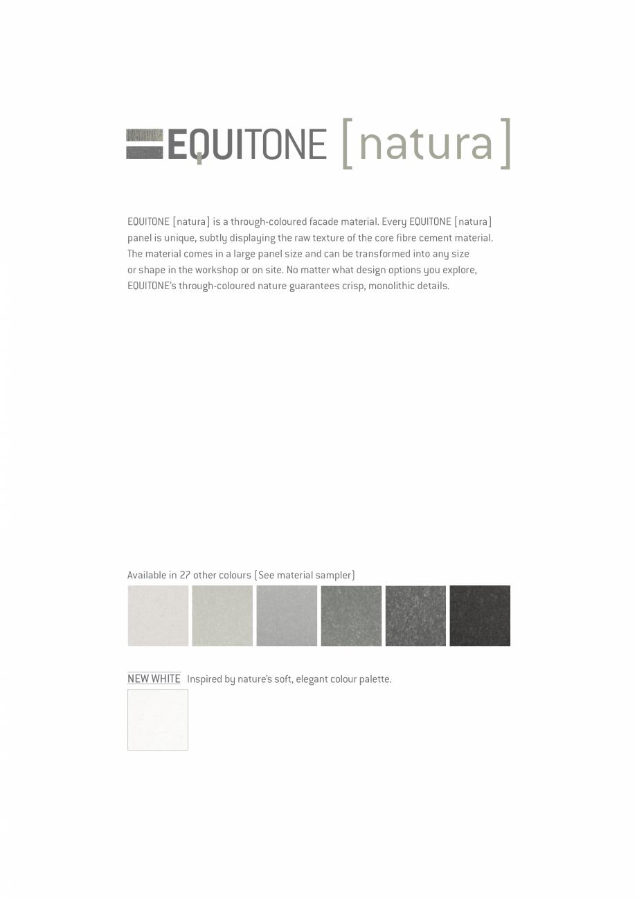 Pagina 16 - EQUITONE fatade ventilate din fibrociment - Prezentare materiale EQUITONE [natura]...
