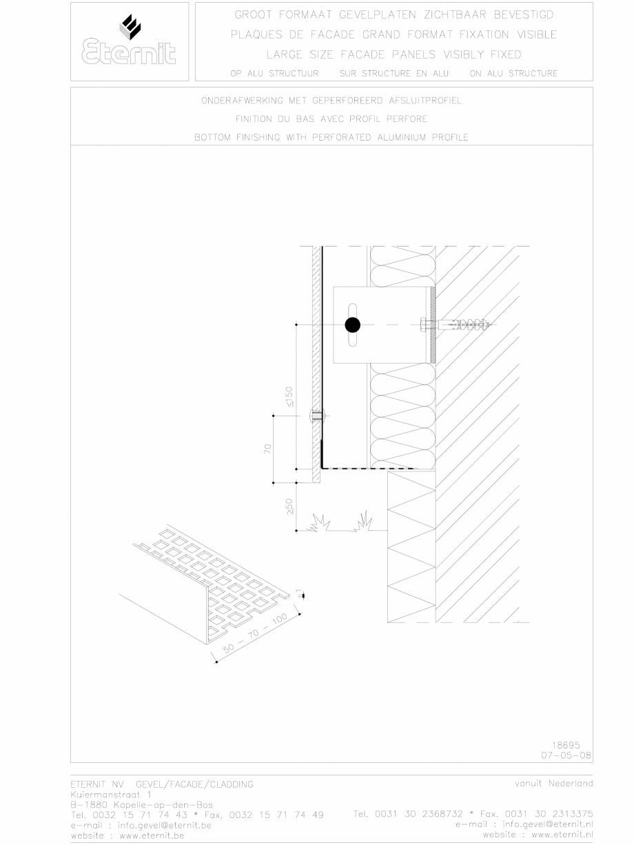 Pagina 1 - CAD-DWG Placa de fibrociment nituita pe structura de aluminiu - Detaliu parte inferioara ...