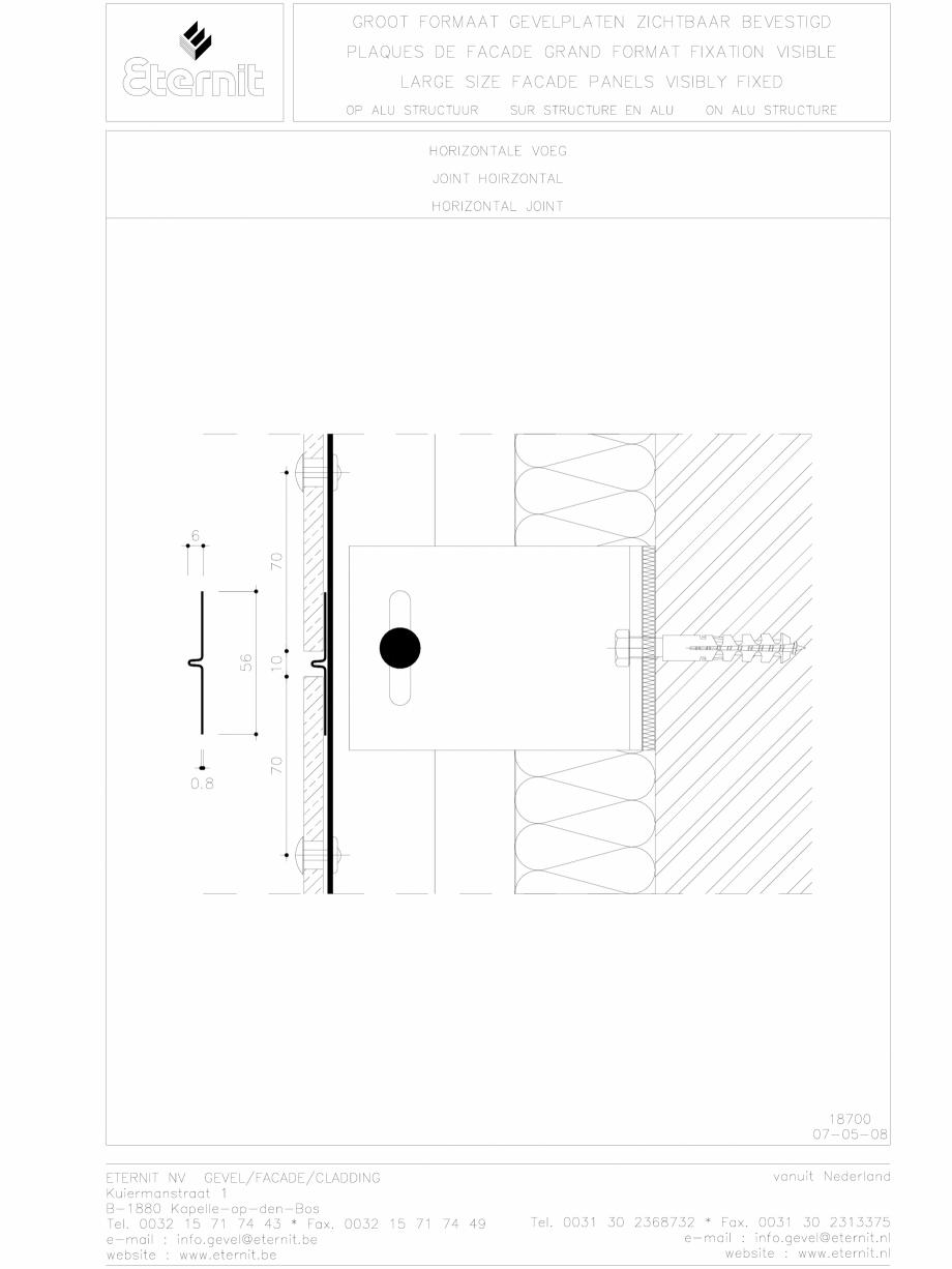 Pagina 1 - CAD-DWG Placa de fibrociment nituita pe structura de aluminiu - Rost orizontal EQUITONE...