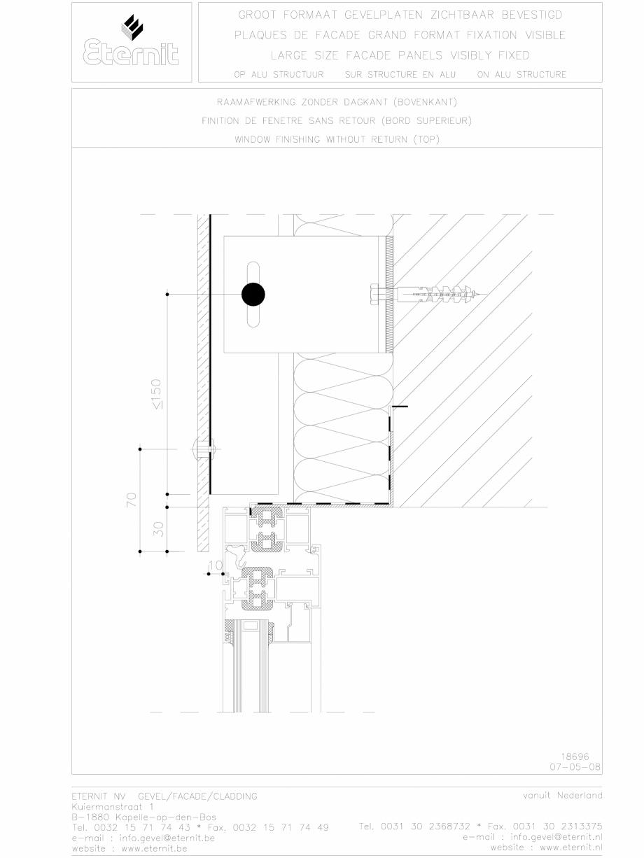 Pagina 1 - CAD-DWG Placa de fibrociment nituita pe structura de aluminiu - Detaliu partea superioara...