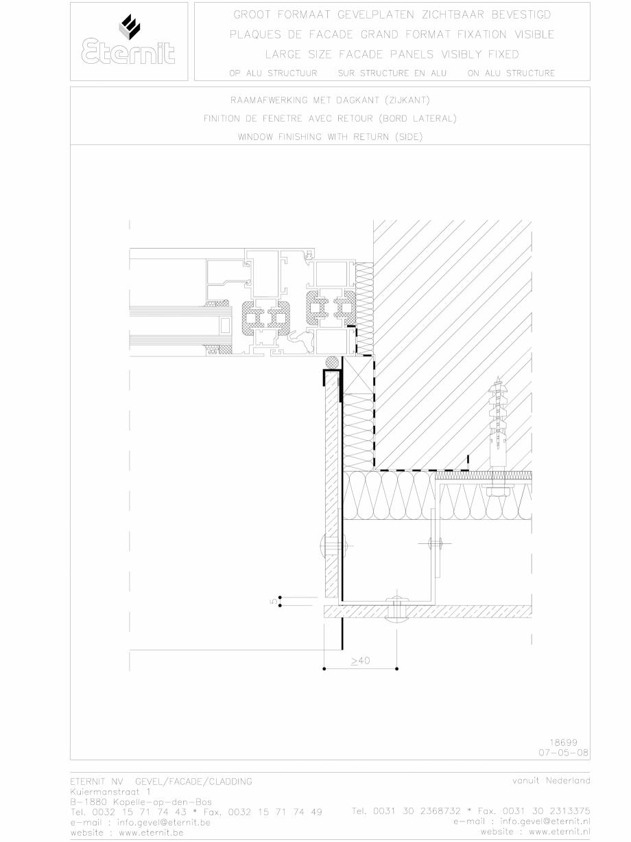 Pagina 1 - CAD-DWG Placa de fibrociment nituita pe structura de aluminiu - Detaliu partea laterala...